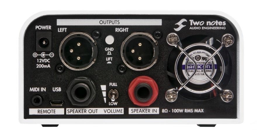 Le micro switch à l'arrière du CaptorX permet de choisir le type de réduction de puissance : full (0db), mid (-20db) ou low (-38db)