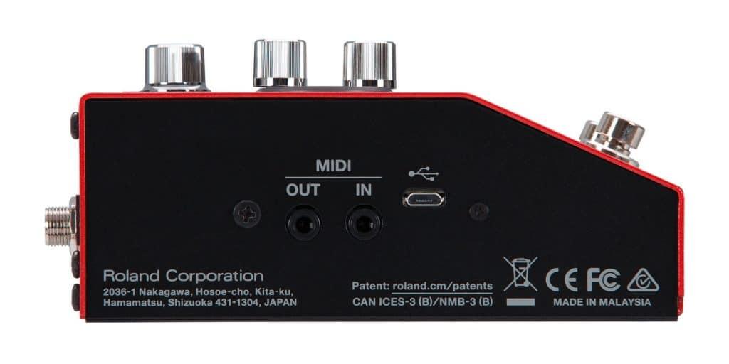 Le Boss RC-10R propose de nombreuses fonctions MIDI