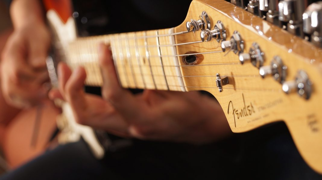 guitare elec strat manche zoom tete