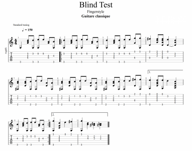 120 Blind Test fingerstyle
